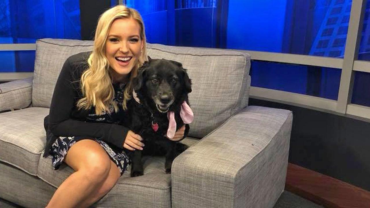 KTEN's Danielle Kernkamp with her pet dog Juno. (KTEN)