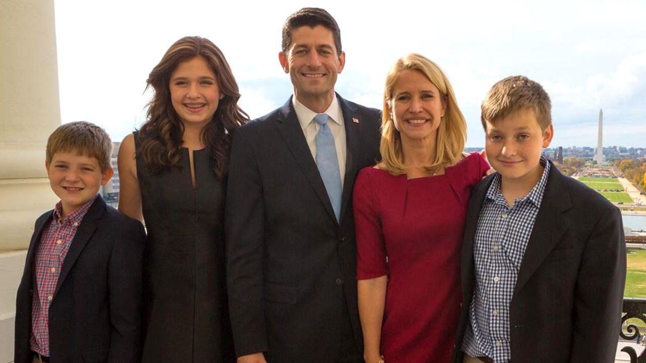A 2015 photo of House Speaker Paul Ryan, his wife Janna, and their three children.