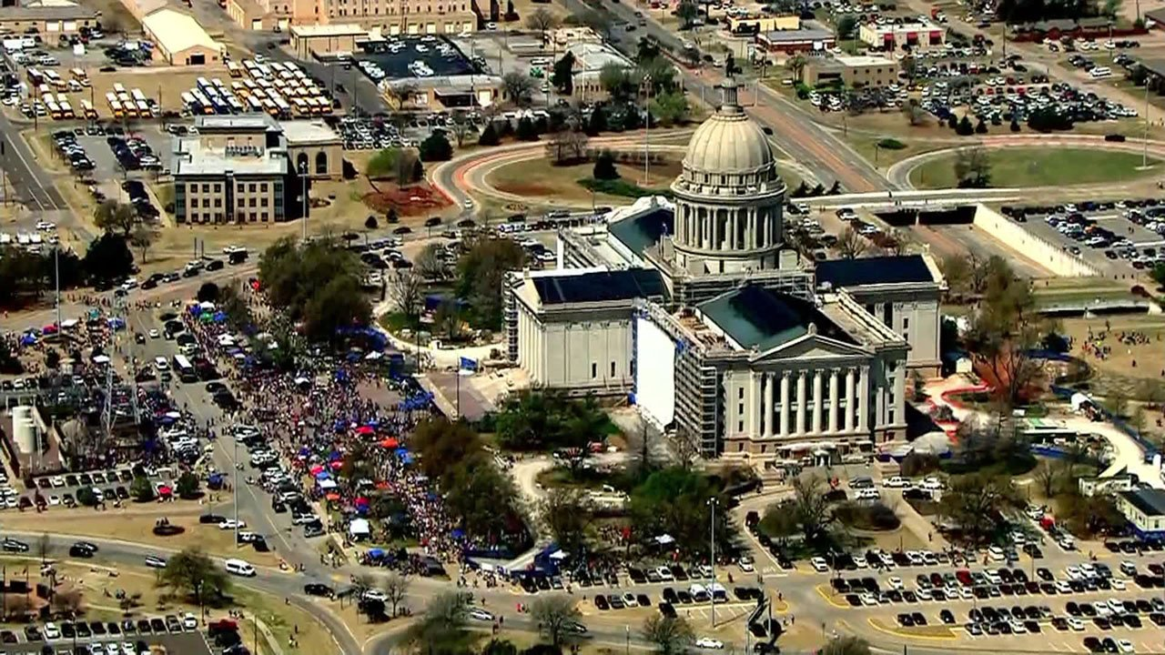 Teachers marched on the Oklahoma Capitol for the eighth day. (KFOR)