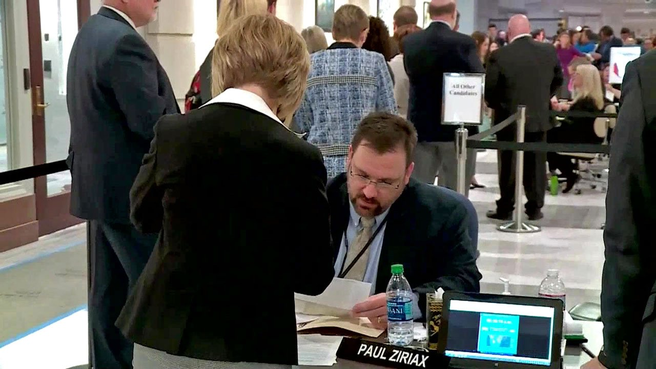Oklahoma candidates filed paperwork at the State Capitol on Wednesday. (KFOR)