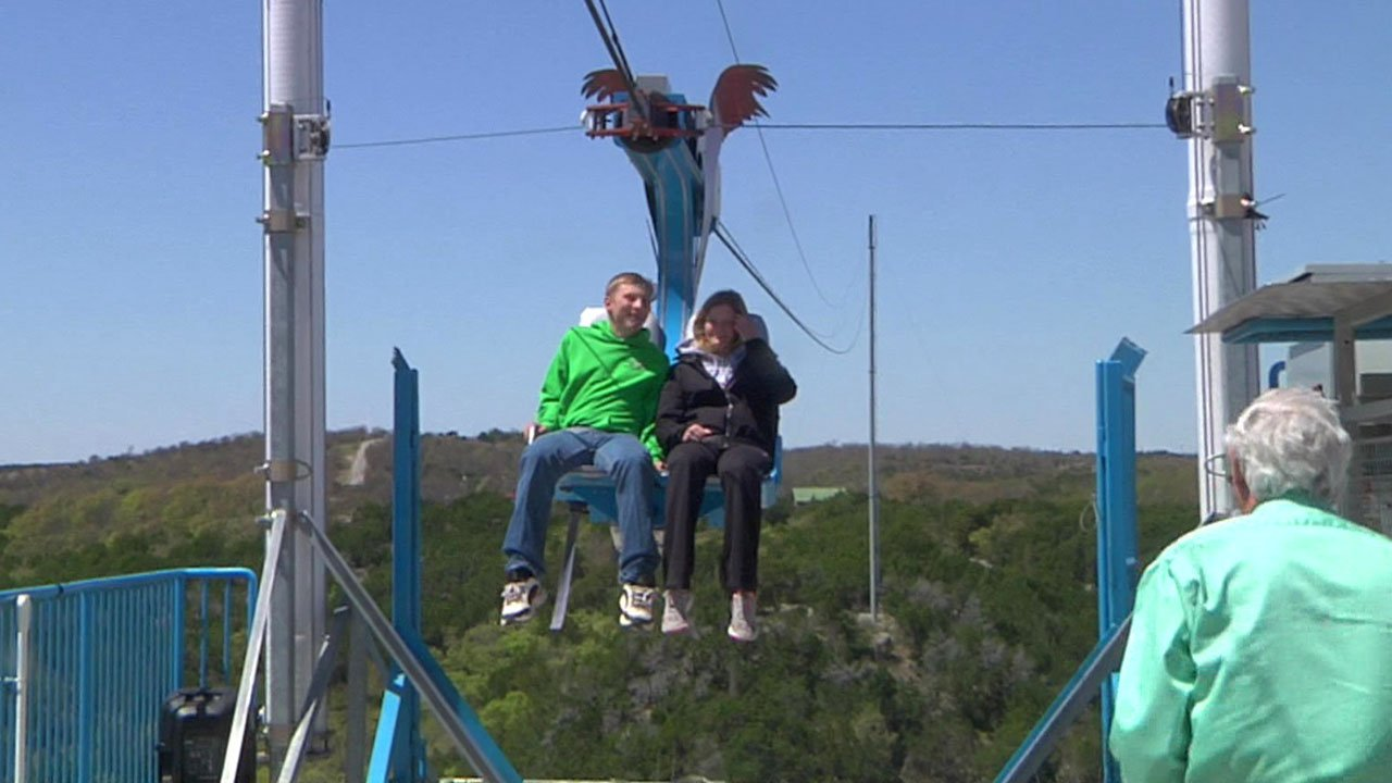 A Turner Falls zipline operator donated weekend proceeds to the Murray County 4-H Shooting Sports team. (KTEN)