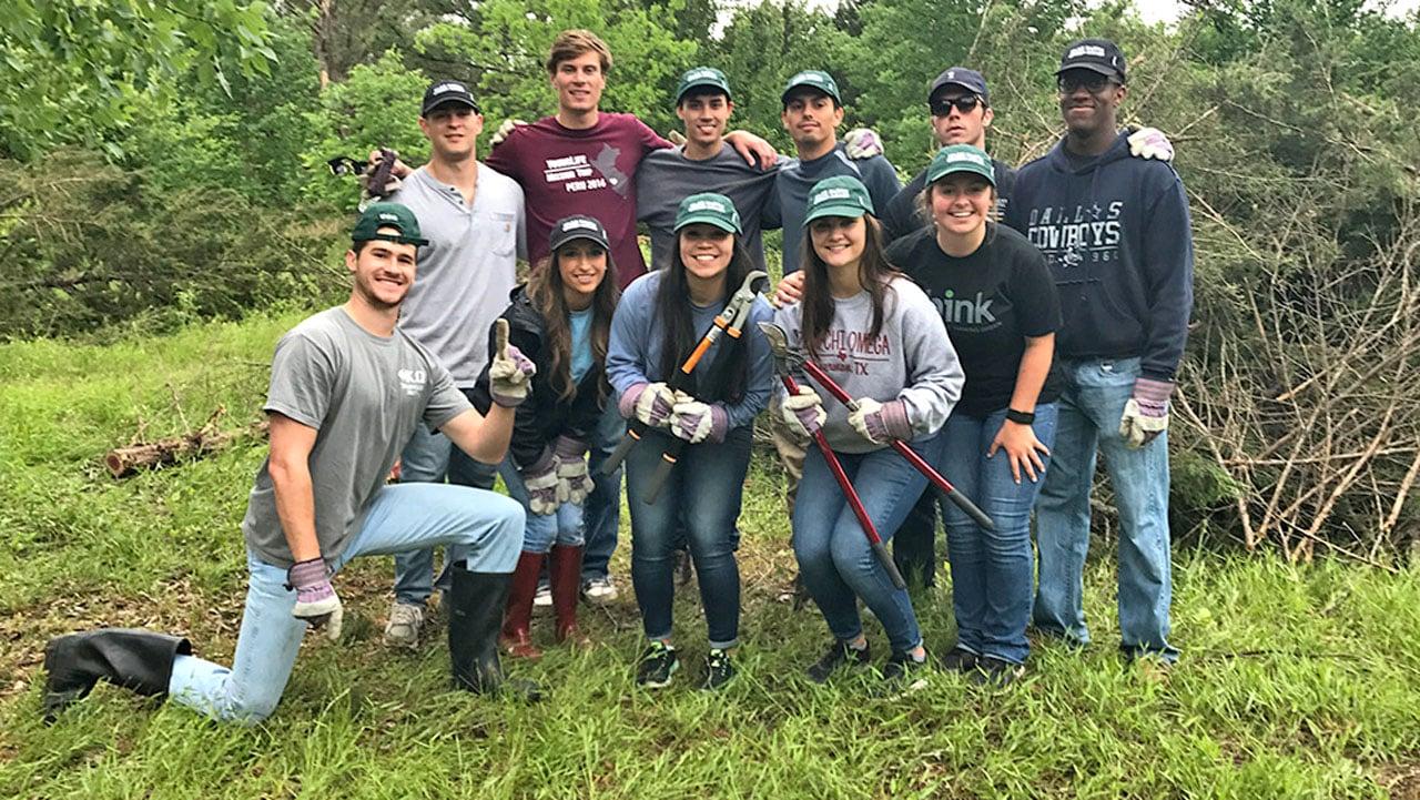 Austin College GreenServe (Austin College photo)