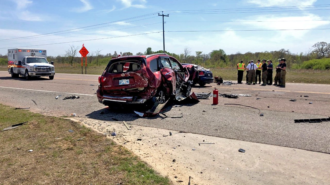 Two people died in a crash on State Highway 3W northwest of Ada. (KTEN)