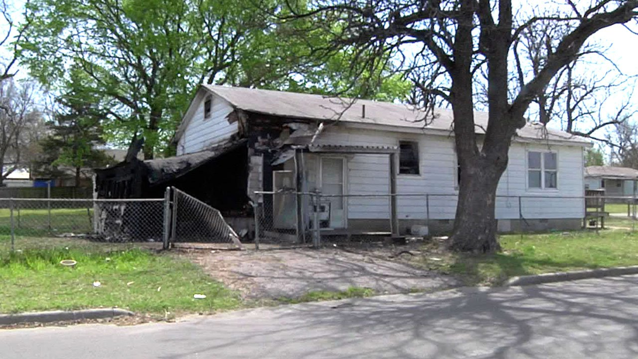 Two children playing with gasoline were injured at this Ada residence. (KTEN)