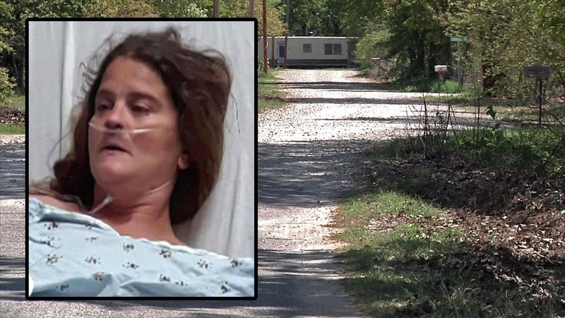 Michelle Slaughter was hospitalized after being mauled by dogs in Marshall County. (KTEN)
