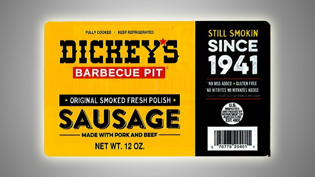 This Dickey's sausage product is part of the recall. (USDA)