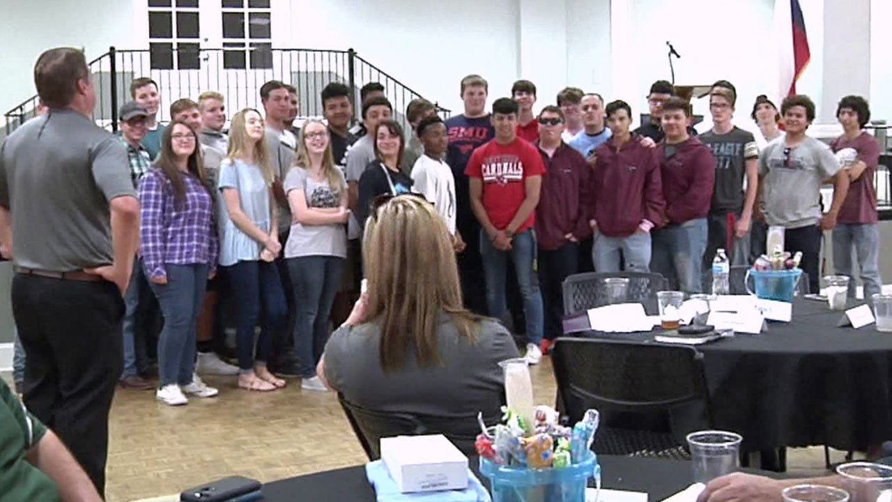Area high school students celebrate the first year of Grayson College's Advanced Manufacturing Program. (KTEN)