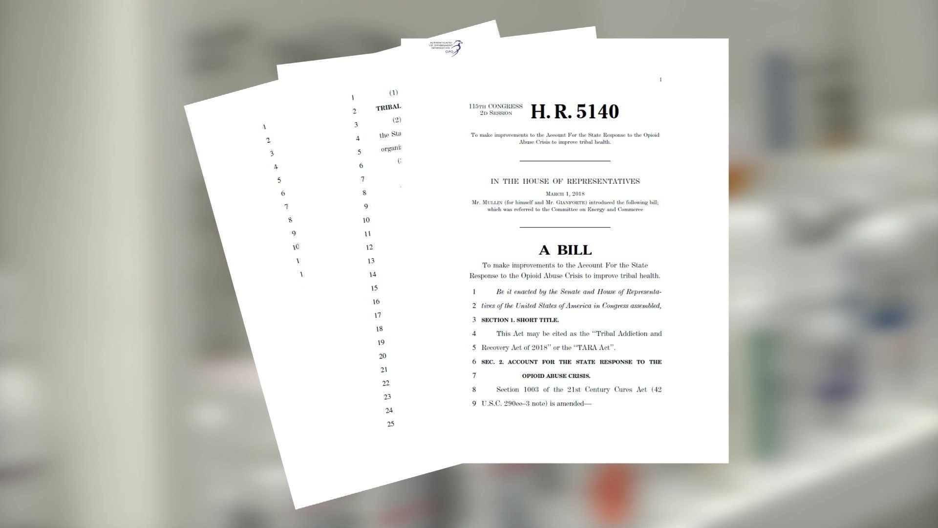 Rep. Markwayne Mullin introduced the TARA Act. (KTEN)