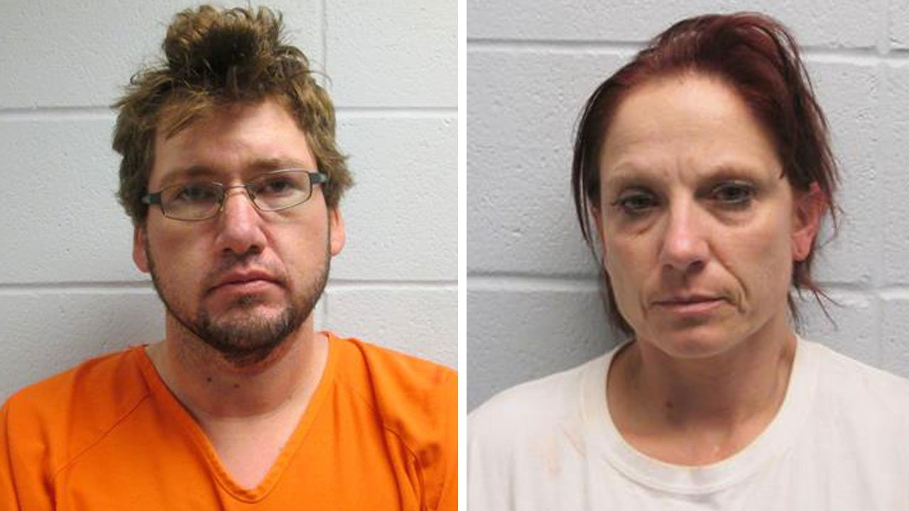 Joshua Finkbeiner and Staci Harjo were arrested in Arkansas. (Cleburne County, Ark., Sheriff's Office)
