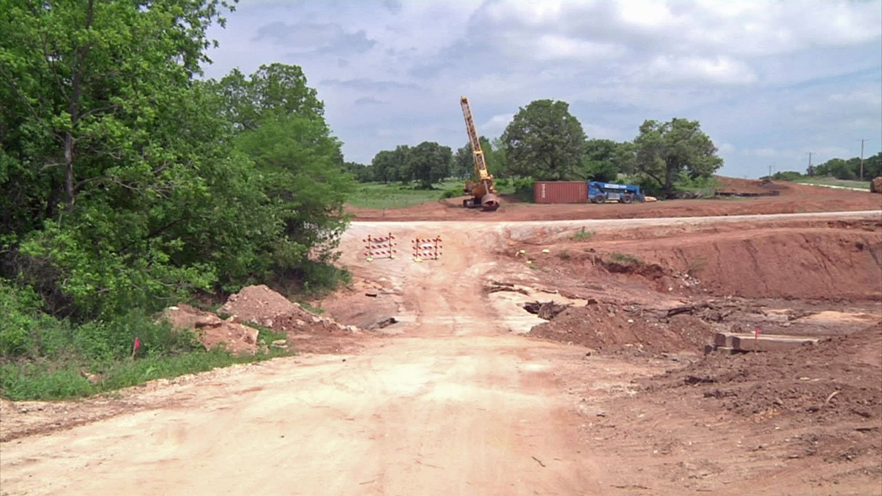 Work is underway on a Midway Road bridge to end concerns about flash flooding on the Carter County thoroughfare. (KTEN)