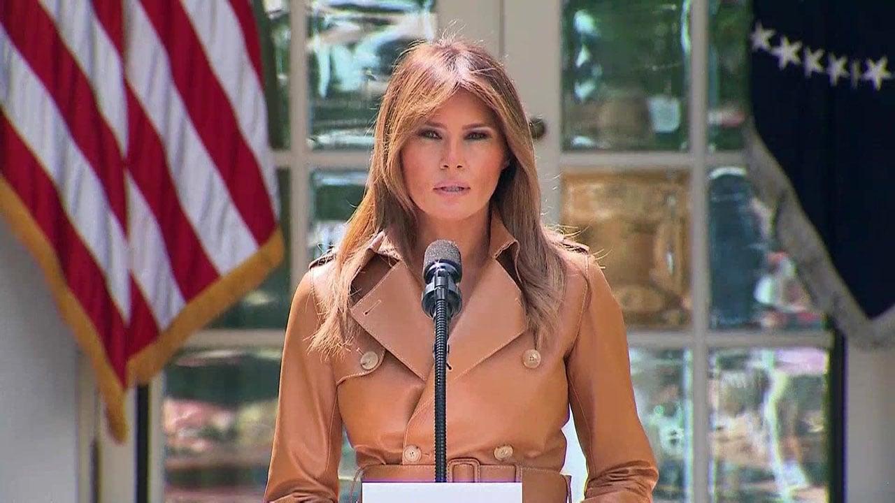 Melania Trump on May 7, 2018. (CNN)