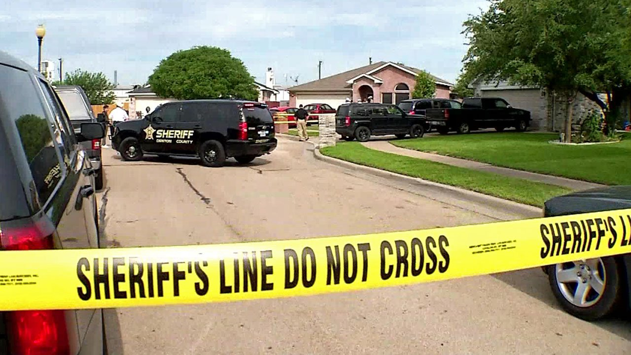 Fire department officials said five people were found dead at a residence in Ponder Texas