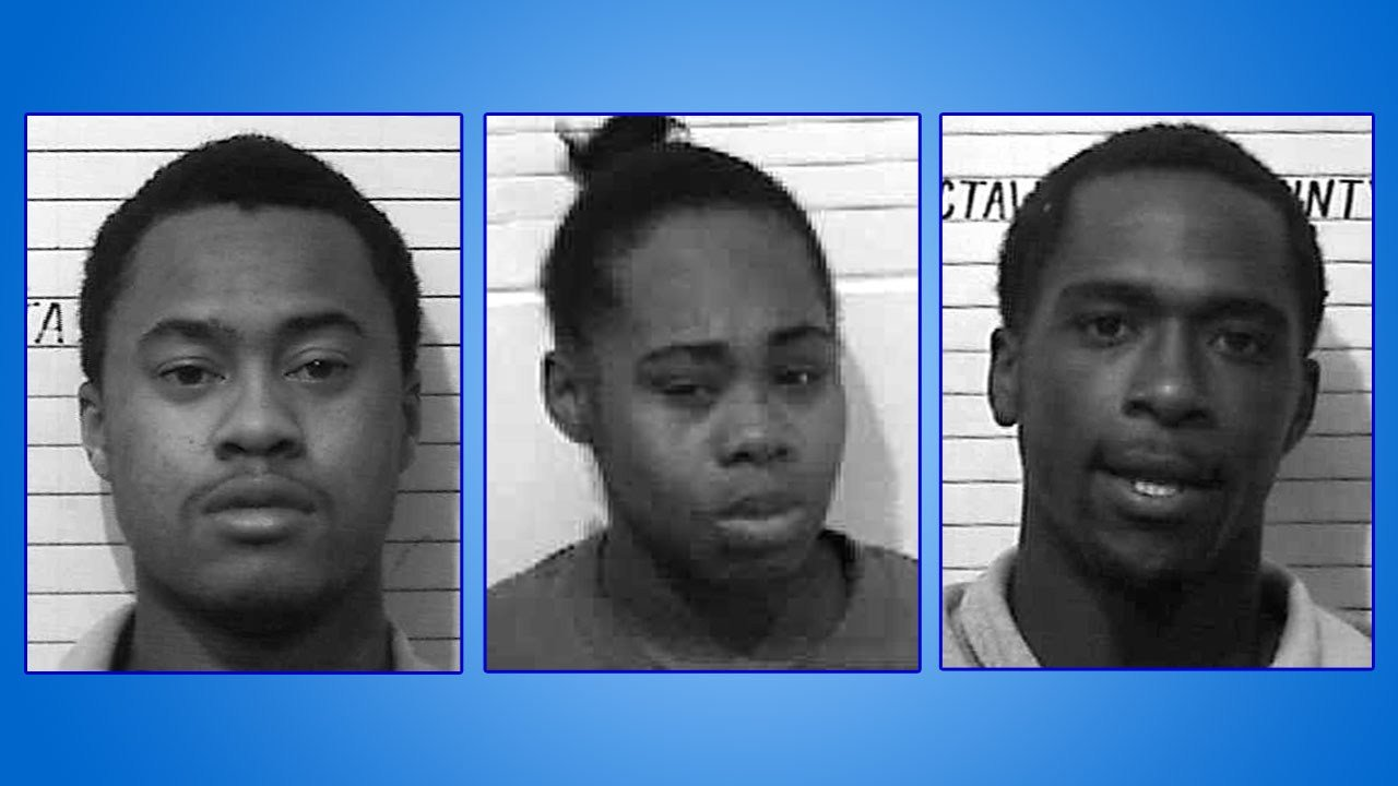 Javen Krussell, Alexia Tims and Lonnie Cole are in custody in connection with a 2015 robbery and murder in Hugo. (OSBI)
