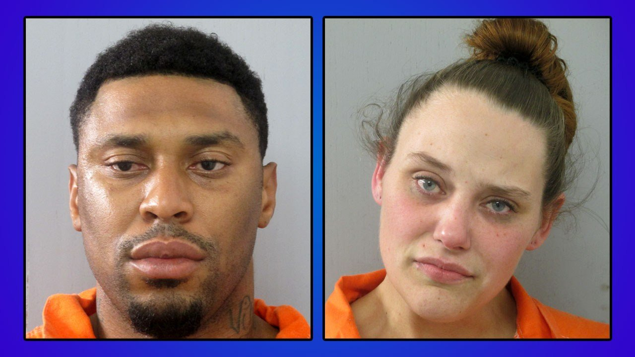 Justin Simpson and Melanie Dotson were arrested in Thackerville in connection with two post office burglaries. (Love County)