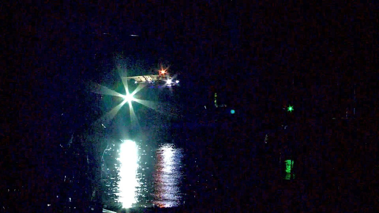 Searching for victims of a boat collision on Lake Thunderbird. (KFOR)