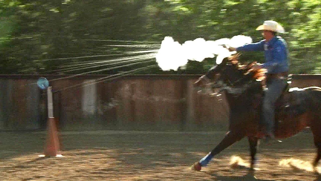 Cowboy mounted shooting combines horsemanship and firearms. (KTEN)