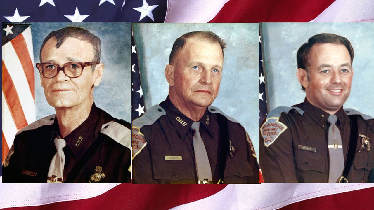 Three Oklahoma Highway Patrol troopers were killed by escaped convicts in Caddo on May 26, 1978. (KTEN)