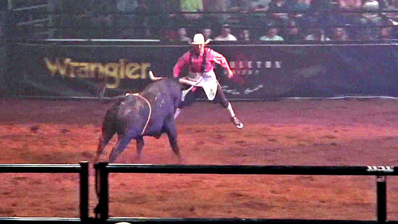 Action from the Bullfighters Only Ada Invitational Championship event. (KTEN)