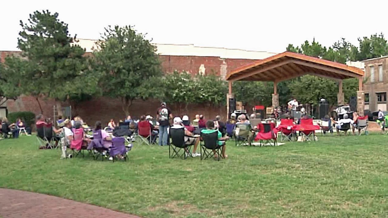 There are free concerts every Friday night at Denison's Heritage Park all summer long. (KTEN)