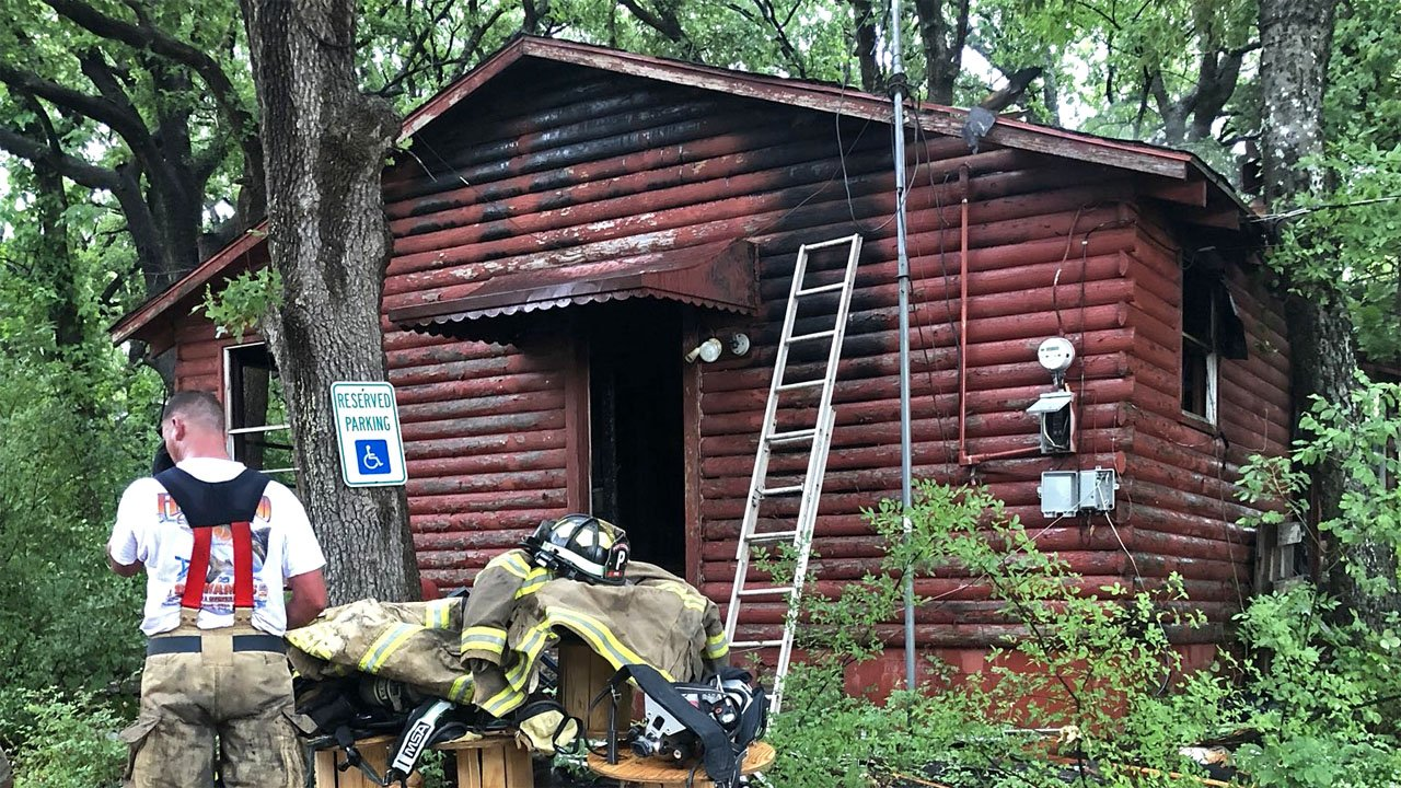 No one was hurt when this home near Pottsboro burned on May 25, 2018. (KTEN)