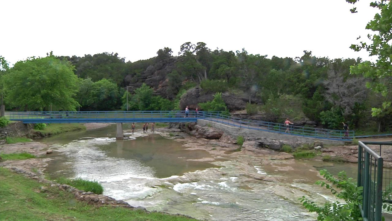 Big crowds are expected at Turner Falls Park over the Memorial Day holiday weekend. (KTEN)