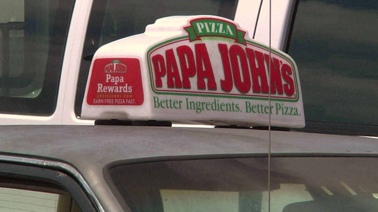 Three signs like this were stolen from an Ada pizza delivery shop. (KTEN)