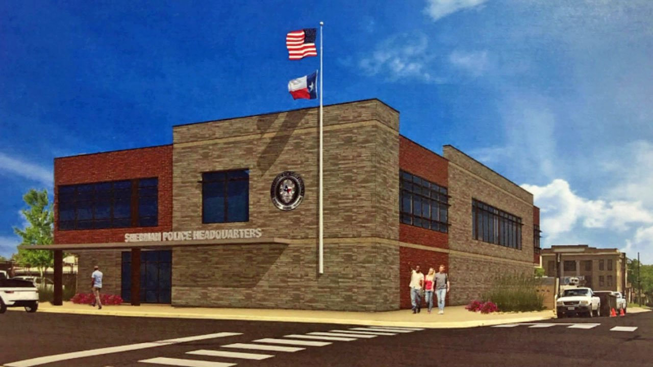 A rendering of the renovation planned for Sherman police headquarters. (City of Sherman)