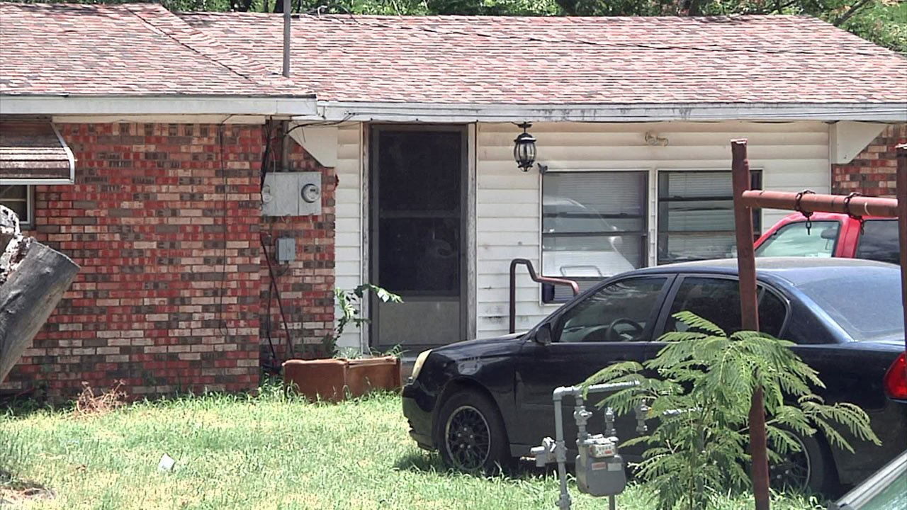 Two people were found dead in this Byng residence on June 21, 2018. (KTEN)