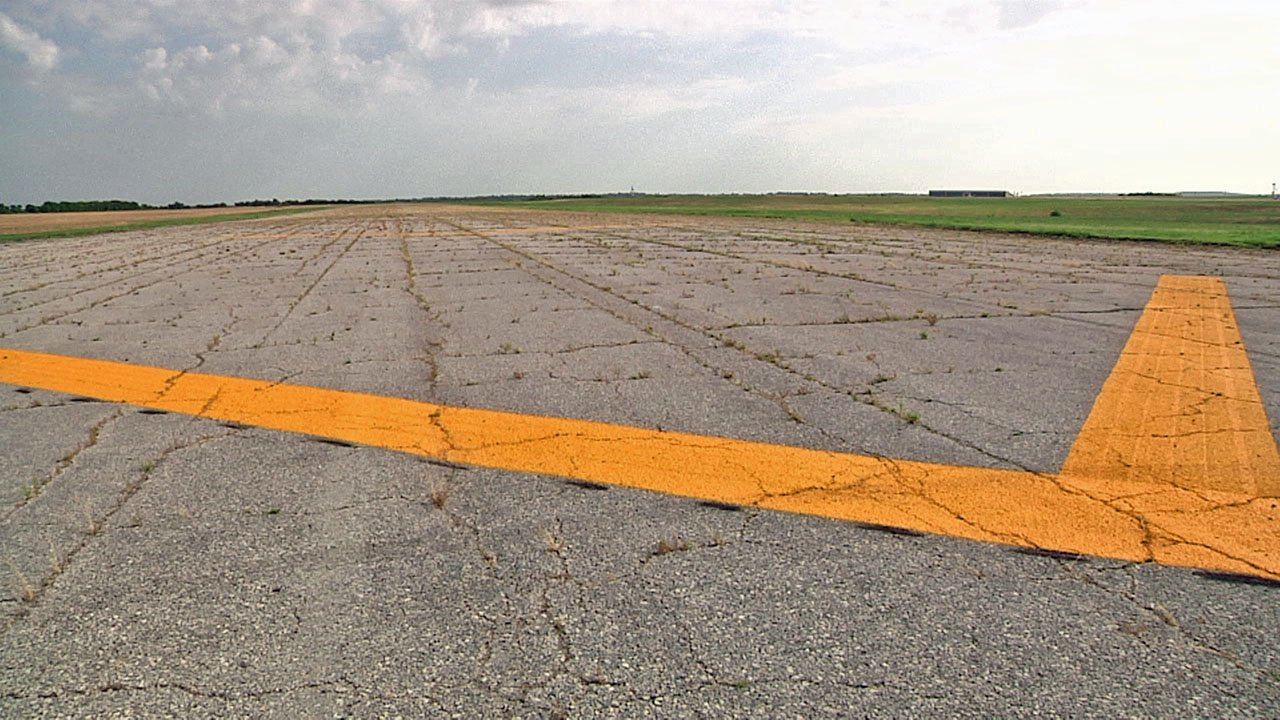 Future plans call for repaving an older section of a 9,000 foot runway at North Texas Regional Airport. (KTEN)