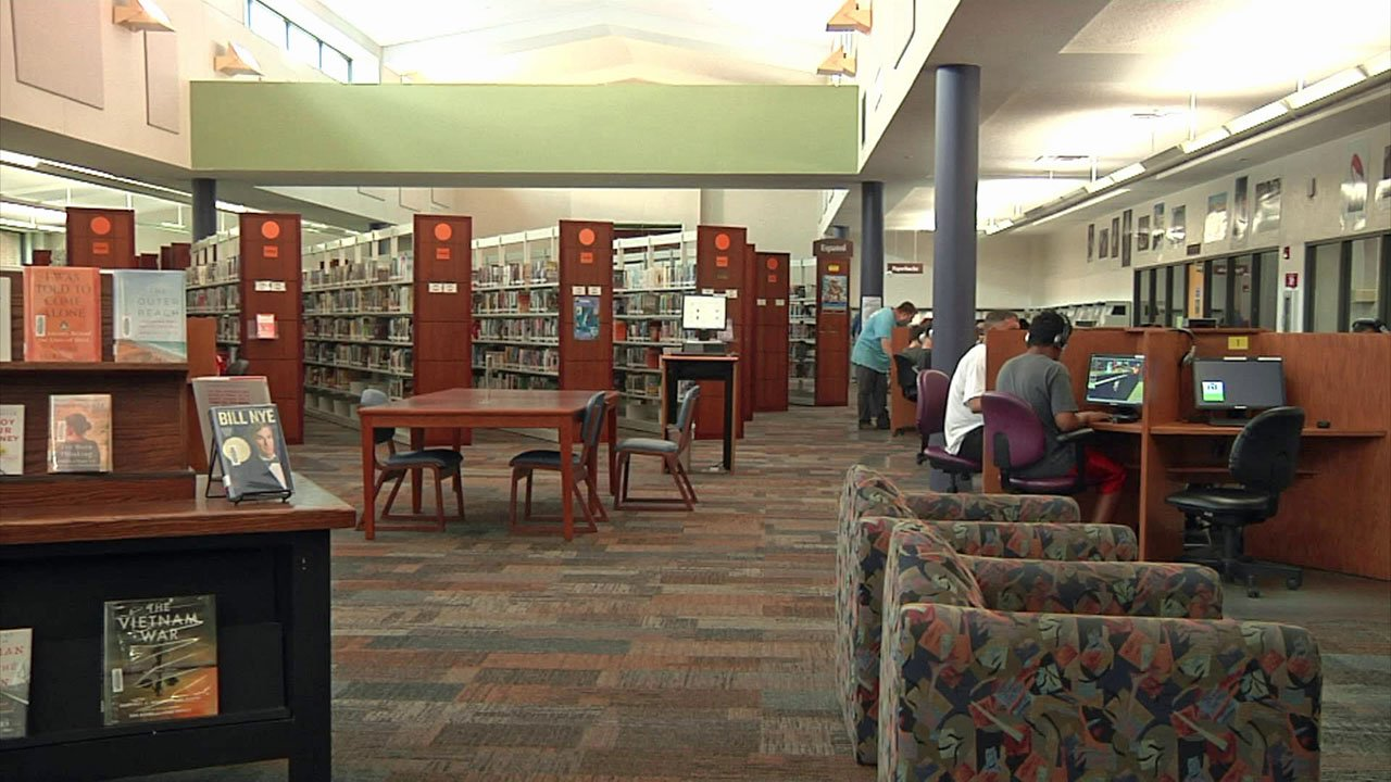 The Ardmore Public Library is a designated cool zone. (KTEN)