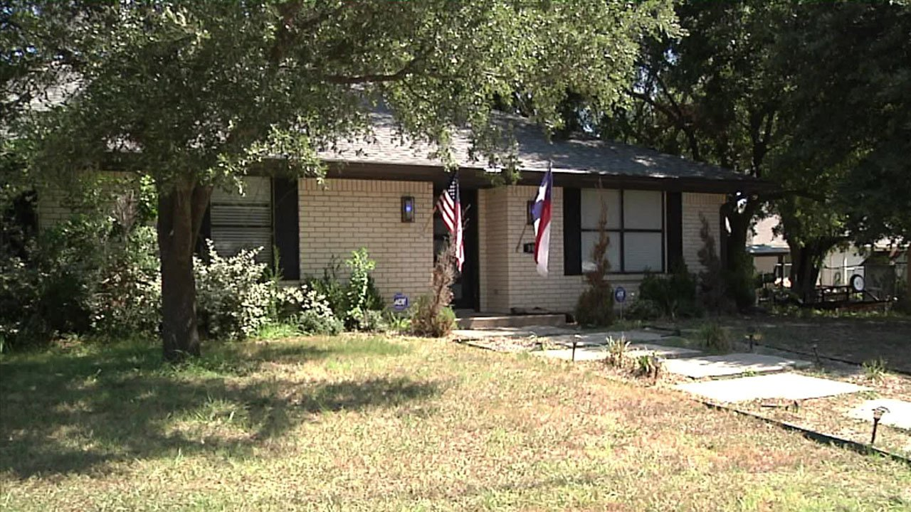 A man died after fire broke out at this residence in Bells. (KTEN)