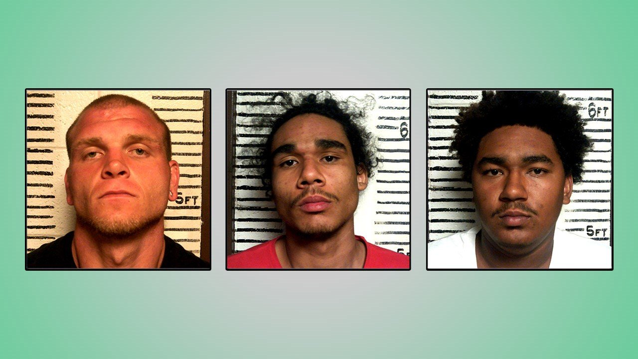 (L-R) Justin Strickland, Rashad Watson and Rashawn Watson were arrested in connection with a home invasion robbery in Garvin County. (Garvin County Sheriff)