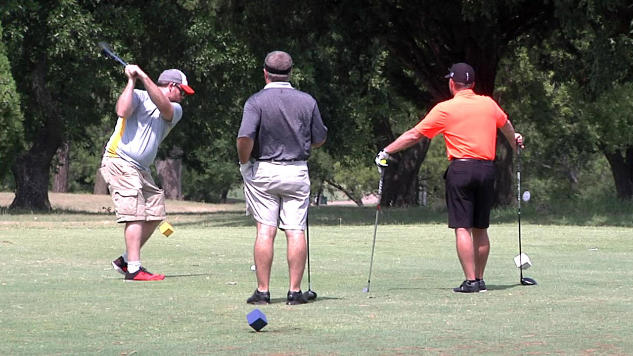 Lakeview Golf Course hosted a tournament to raise funds to repair the Ainsworth Center's playground. (KTEN)