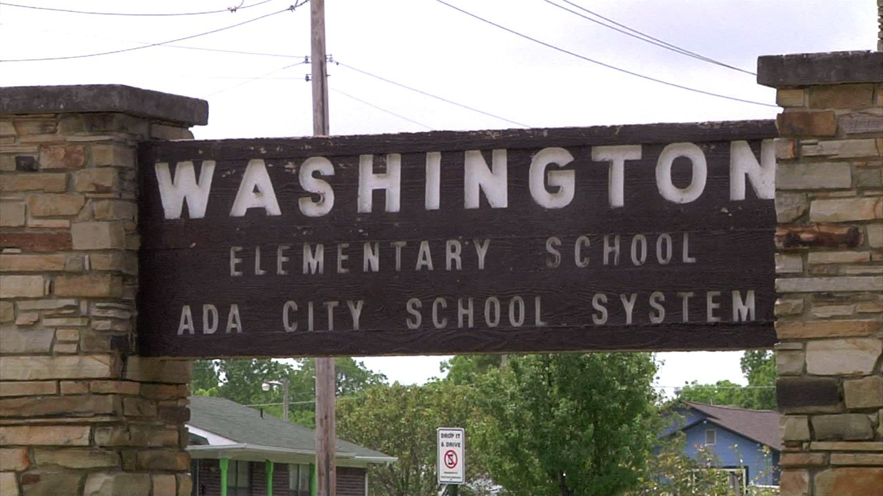 Washington Elementary School in Ada. (KTEN)