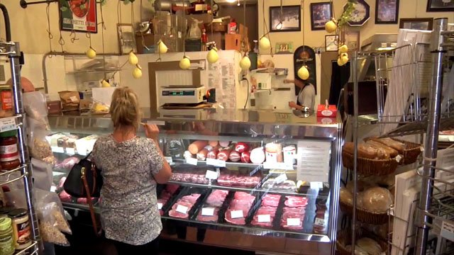 The front counter at Lovera's in Krebs, Oklahoma