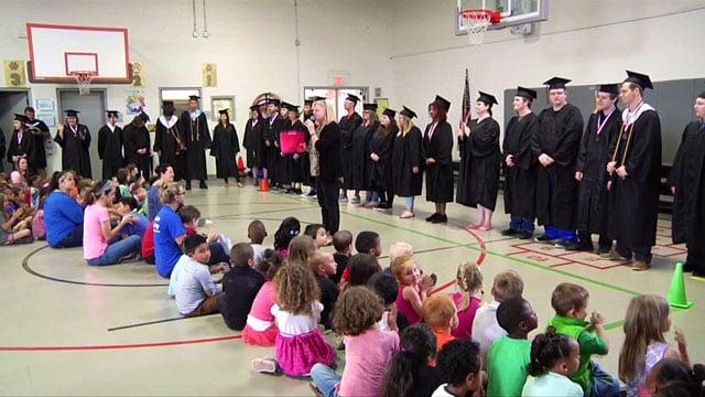 Denison seniors inspire elementary students