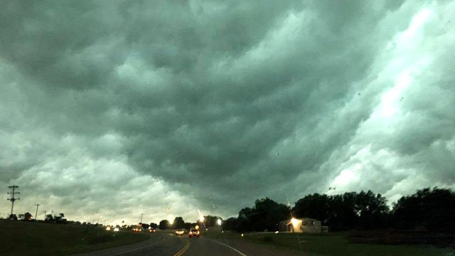 Storm clouds between Ada and Roff. / Courtesy Genesis Guzman