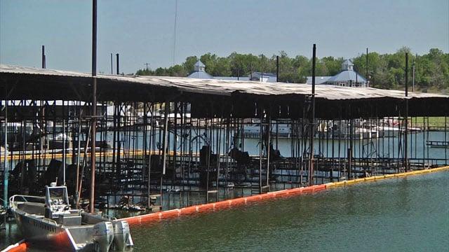 Charred remains of U Dock