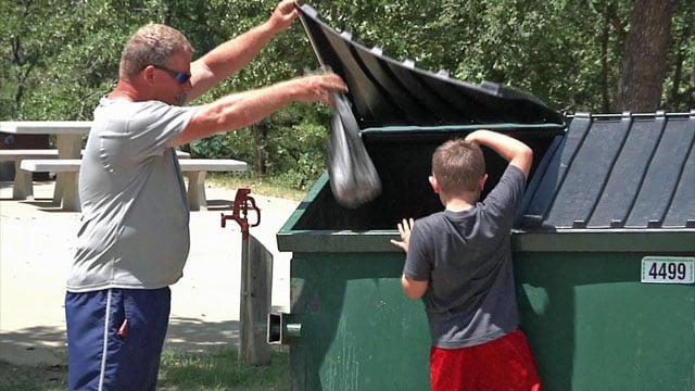 Campers keep trash in check at Lake Murray
