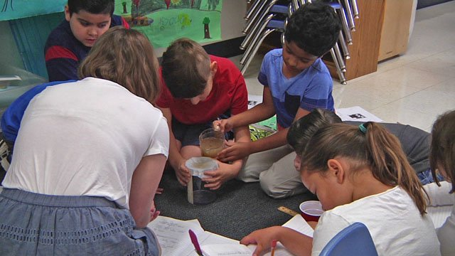 Students participate in Thinking Camp project