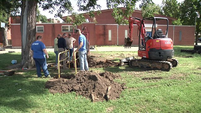 Building a new playground in Durant
