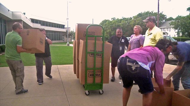 School supplies arrive at Washington Elementary School