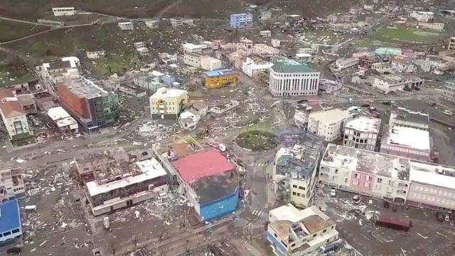 Irma damage in Caribbean