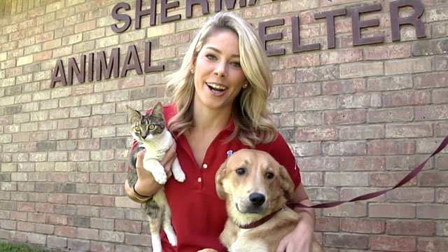 Emily Akins with pets