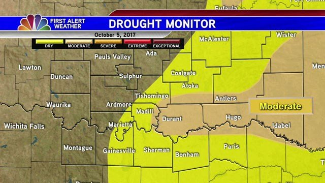 Map shows drought conditions across Texoma