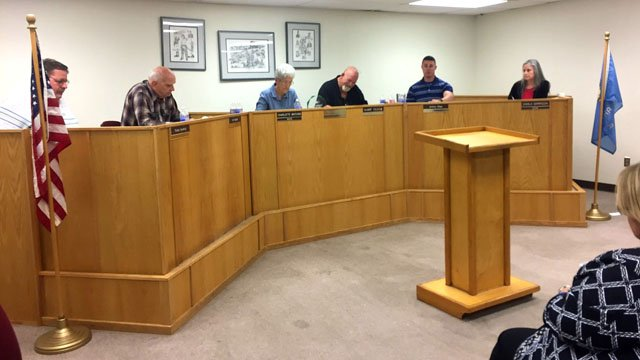 The Kingston City Council met behind closed doors before taking action. (KTEN)