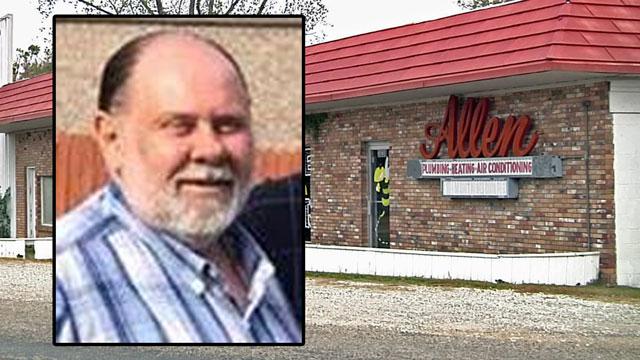 Robert Allen was found murdered at the family's plumbing business in Denison on October 31, 2017. (Facebook/KTEN)
