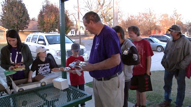 The Families Feeding Families kitchen in Durant provides meals for young and old alike. (KTEN)