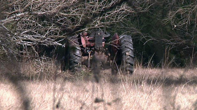 Gerald Plumlee died while using a tractor implement to dig holes on his property. (KTEN)