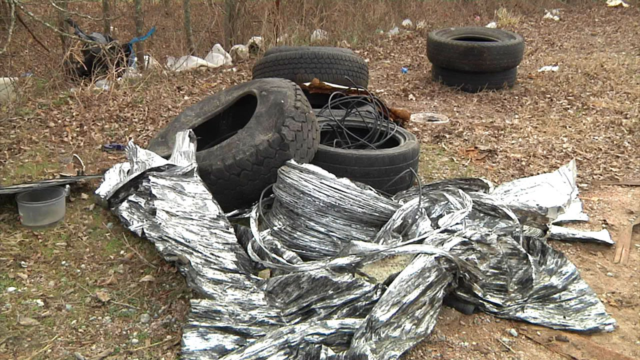 An example of illegal dumping in Bryan County. (KTEN)
